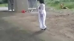 Linda - White see-thru gown