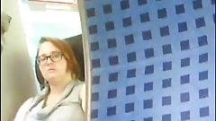she see me masturbating in the train