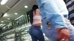 Beautiful ass in the watch store