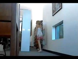 Webcam! Hot blonde being Naughty in public on Webcam.