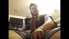 Filthy stud jerking off big rod