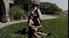 Irish Slut Takes Two Guys Before Battle