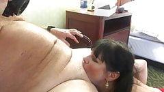 Midnight filmed sucking cock