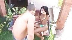 Outdoor anal pleasure