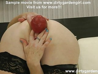 Fuck prolapsed ass with wine bottle