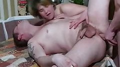 Russian friend gets a blowjob from my wife while I fuck his