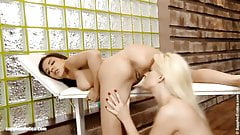 Massage Table Tryst by Sapphic Erotica - lesbian love porn