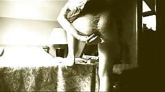 transvestite ladyboy anal fisting sextoy pantyhose 3