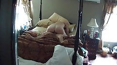 Wife riding me till I came in her ass!