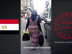 Egyptian big ass in street 2018