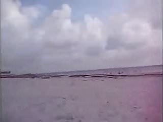 Nude Beach Fingered Pussy