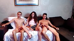 Russian trio blow job part 1