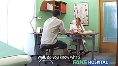 FakeHospital sexy male patient cums in dirty nurses mouth