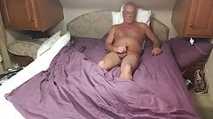 Grandpa Masturbating again while out of town