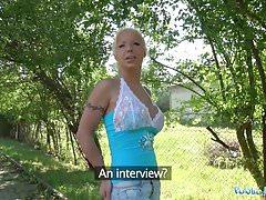 Public Agent Hot Blonde Wife Barbie Sins Fucks a Stranger