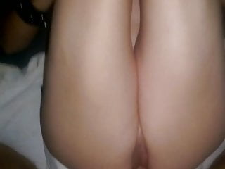 Erol creampied skinny cougar's tight pussy.