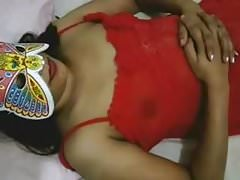 Indian aunty in red nighty naked ready for hot sex Thumbnail