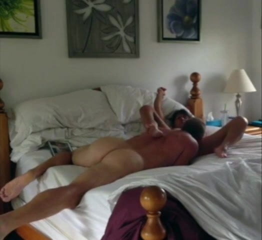 real couple sensual love making- Handsome muscular fit daddy