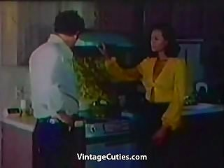 Preview 1 of Naughty Teen Seduces Her Supervisor (1970s Vintage)