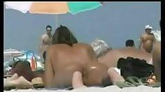 Nude Beauty Dressing on Beach BVR