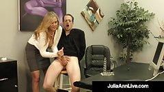 Big Titty Milf Julia Ann Hugs Lucky Dude & Milks His Cock!