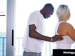 Big Black Cock Dives Down Nina Kayy's Throat & In Her Pussy!