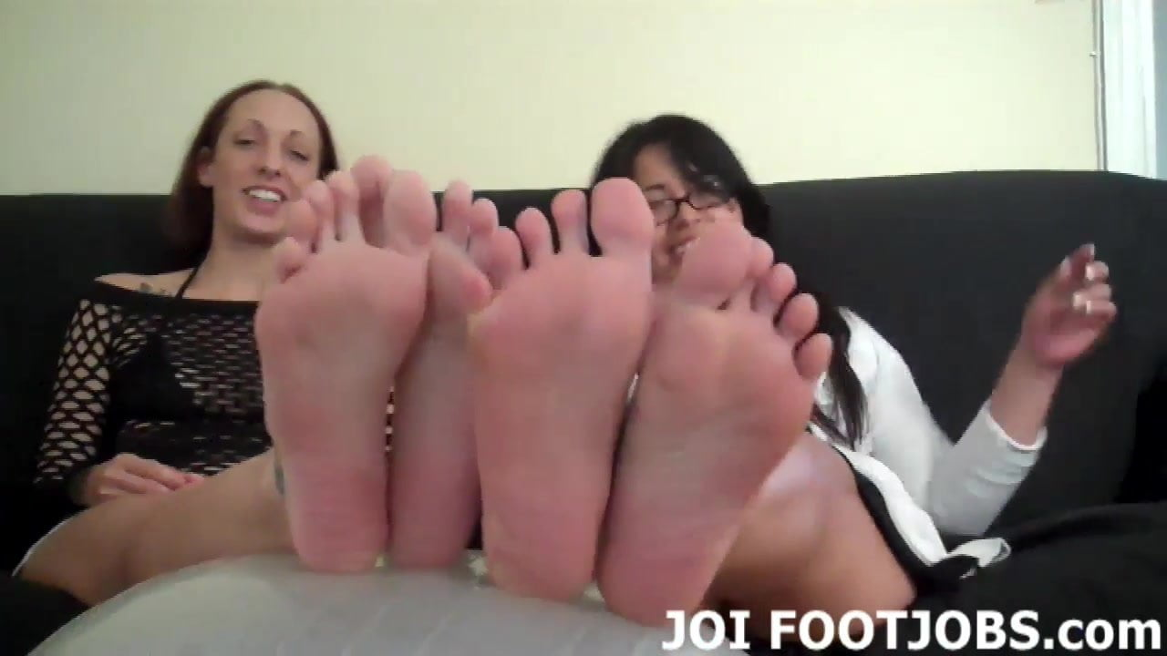 You have to beg if you want to worship our feet