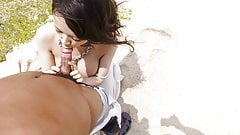 Kyouko Maki tries POV sex by the beach - More at Japanesemam