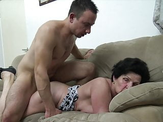Granny seduced by horny young guy!