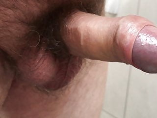 My uncut cock cums after two weeks with no cumshot