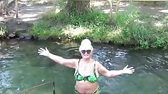 Blonde swimming grandma's Thumb