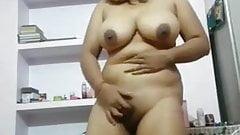 Chubby girl Vimala rubbing her pussy for boy friend..