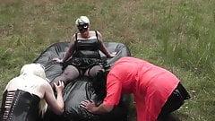 2 Trannys serve her Mature Mistress