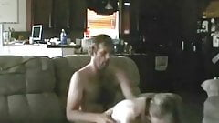 Mature Couple Homemade Fun on the Couch