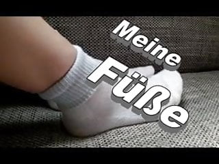 Teen socks feet - Funnyteengirl shows her feet with white socks
