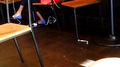 Candid Ebony Feet Dangling Heelpopping pt 1