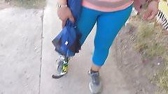 CamelToe Milf. Licra azul