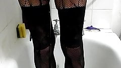 pissing in fishnets