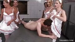 6 Shemale Nurses Have the Cure for this Horny Perv
