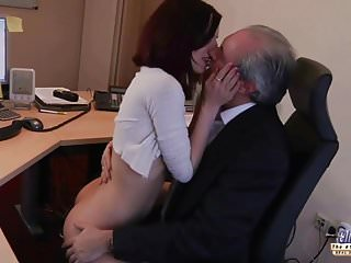 I am a young secretary seducing my boss at the work office