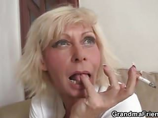 Some Party With Blonde Granny Widow