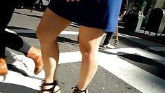 BootyCruise: Asian Babes Leg Art 19 - Blue Dress & Heels