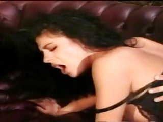 Sexy Latin business woman milks her black cock client