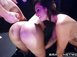 After twerking their asses off they get a hard anal drilling