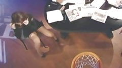 Kimberly Guilfoyle Wearing Short Skirt Shooting Baskets