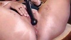 Mature wife having fun with dildo 2