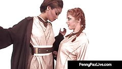 Tongue Fucking Jedis Penny Pax & Skin Diamond Use The Forze!