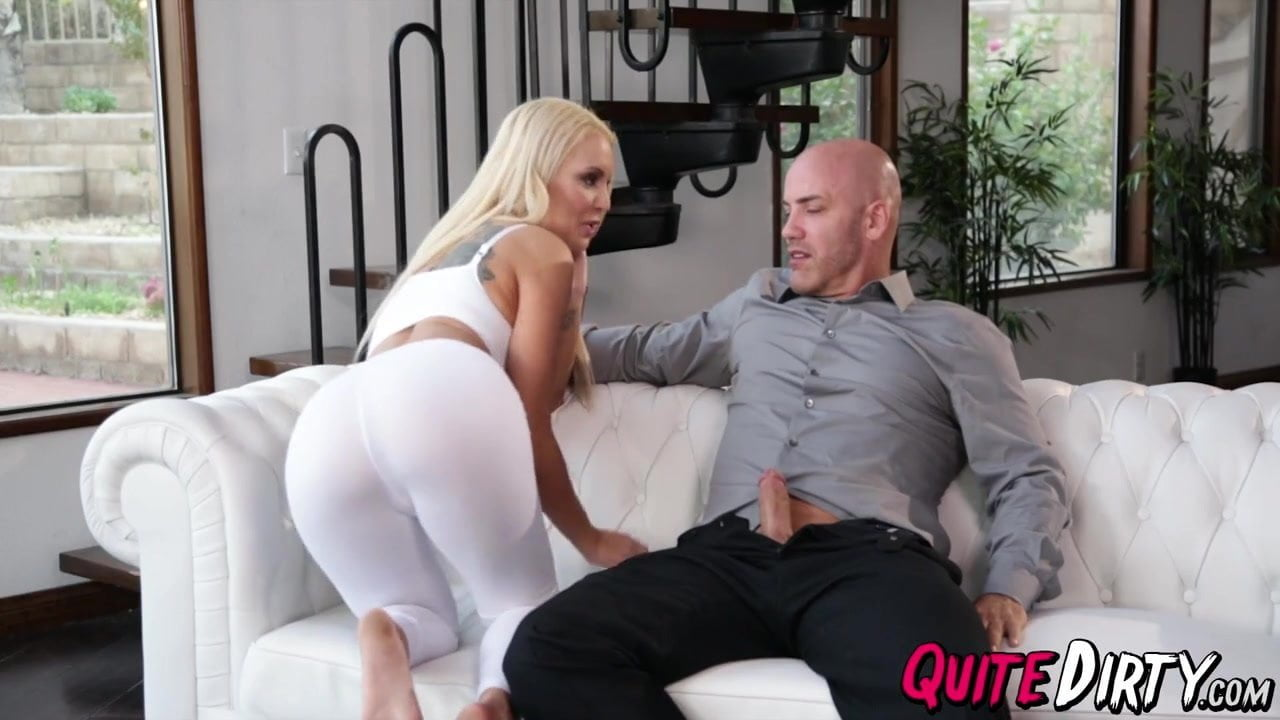 Cute blonde Kenzie Taylors pussy hammered by her stepdad