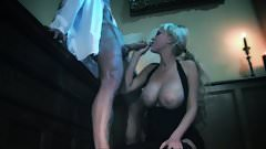 Big boobs model yells in pleasure getting throbbed doggystyle