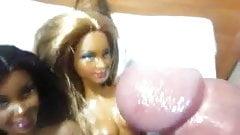 Two girlfriends of Barbie dolls